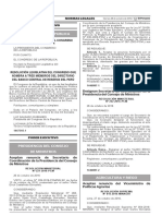 Resolución Legislativa del Congreso que nombra a tres miembros del Directorio del Banco Central de Reserva del Perú