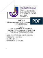 Relevance of Chemical Engineers