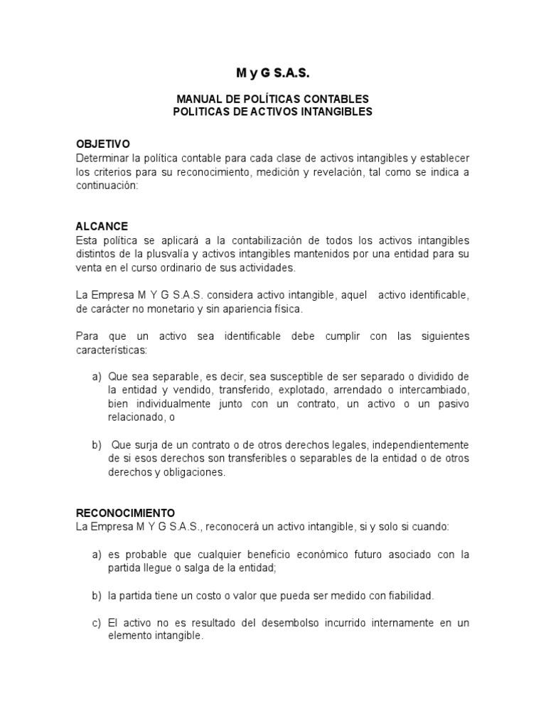 Excepcional Plantilla De Manual De Política Contable Adorno ...