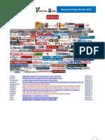 Revue de Presse 10-11 Juin 2010