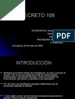 Decreto 109 Power