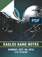 Eagles Game Notes vs. Dallas 10-30-16
