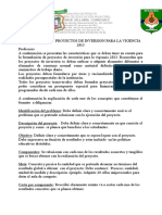 Proyectos de Inversion Formato