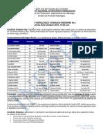 Boletín Hidrológico Condición Ordinaria No.1 28-10-2016