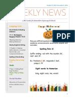 class newsletter-week of october 31st 2016