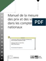KS-41!01!543-FR La Mesure Des Prix Et Des Volumes en Comptabilité Nationale