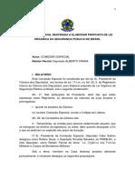 Relatório Parcial dos Projeto de Lei 4363/01 e 6690/03 para as PMs e BMs do Brasil