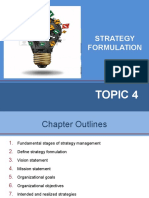 Topic 4- Strategy Formulation