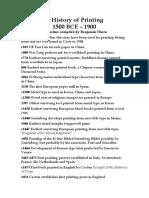 Printing Timeline