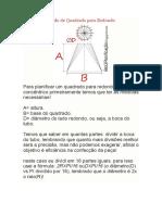 Cálculos e Traçado de Quadrado Para Redondo