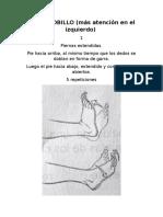 Fisioterapia para tendinitis de pie