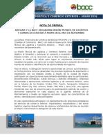 Nota de Prensa - Mision Tecnica de Logistica y Comercio Exterior - Miami, Noviembre 2016