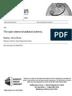The Open Sleeve Broadband Antenna H.Barkley 1955