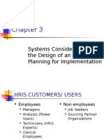 Chap-3 Systems Considerations in the Design of an HRIS-Planning for Implementation