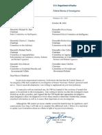 FBI Letter on Clinton Emails