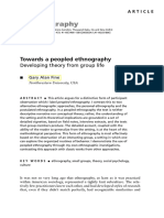 Alan Fine - Towards a Peopled Ethnography Developing Theory From Group Life