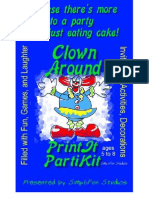 00034 Birthday Party Games for Children - Children's Clown Around Theme Birthday Party Kit and Party Games for ages 5 to 8