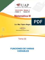 Sem03_func de Varias Variables