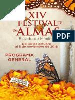 Programa Festival de Las Almas Valle de Bravo 2016