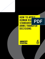 How to Apply Human Rights Standards to Arms Transfer Decisions