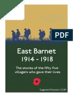 East Barnet 1914-1918