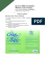 Refutation Miracles Scientifiques Coran Campbell Bucaille