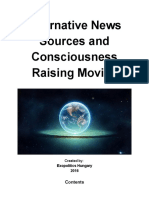 Alternative News Sources and Consciousness Raising Movies - compiled by Exopolitics Hungary
