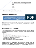 Procurement & Contract Mgt
