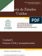 Unidad 6 Guerra Civil y La Reconstrucción - Historia de EEUU