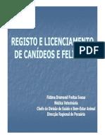 Registo e Licenciamento de Canideos e Felideos