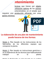 Información Para Plan de Mantenimiento