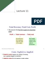 Microeconomics (Lecture 11)