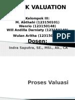 Manajemen Portfolio Kel III Stock VAluation