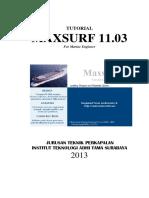 Tutorial Maxsurf 11.03