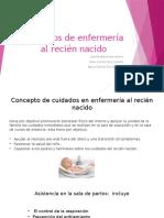Cuidados de Enfermería Al Recién Nacido
