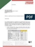 Especificacion de Combustible Operacion Daf Cf85