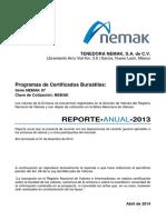 30-April-2014 Anual Report 2013 Spanish