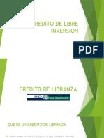 Credito de Libranza y libre inversion