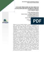 ANÁLISE PRELIMINAR DOS RISCOS OCUPACIONAIS EM UM RESTAURANTE UNIVERSITÁRIO.pdf