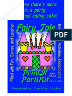 00002 Party Games for Children - Fairy Tale Birthday Print Yourself Party Kit and Party Games for ages 5 to 9