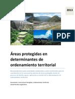 Áreas Protegidas en Determinantes de Ordenamiento Territorial