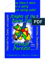 00009 Boy's Party Game - Knights of the Round Table Theme Party ages 5 to 9