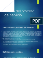 Diseño Del Proceso Del Servicio