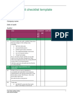 HACCP Food Safety Audit Checklist