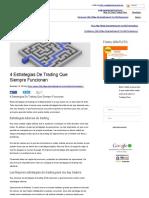 4 Estrategias de Trading Que Siempre Funcionanñlmlñlmñ
