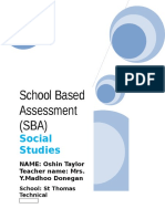 86594813 Oshin Taylor Social Studies SBA