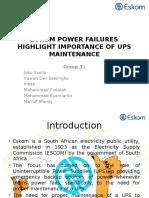 Eskom Power Failures Highlight Importance of Ups Maintenance - Add Introduce
