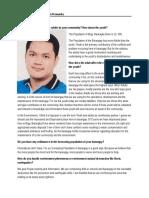 Interview With Captain Darwin Fernandez