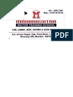 Maharashtra Motor Training, Bhandup, Mumbai