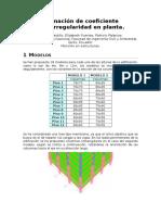 Coeficiente de irregularidad en planta.